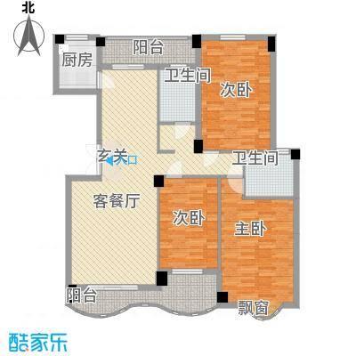 中地・滨江国际18141.20㎡18号楼B2-1双卫户型3室2厅2卫1厨