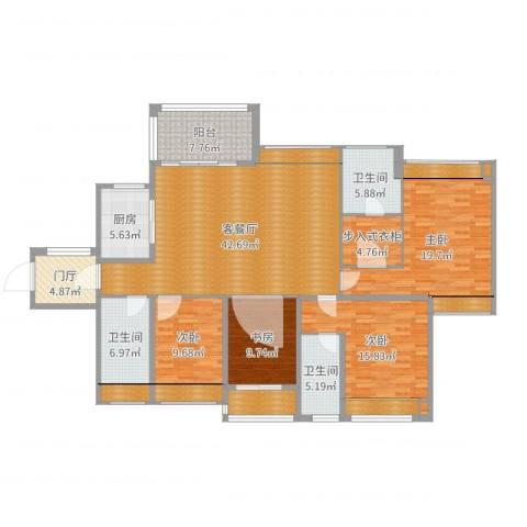 西湖怡景园4室2厅8卫5厨191.00㎡户型图