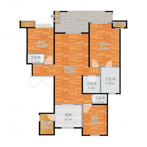 万科大明宫3室1厅7卫1厨149.00㎡户型图
