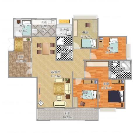 湘江世纪城临江苑4室2厅2卫1厨174.00㎡户型图