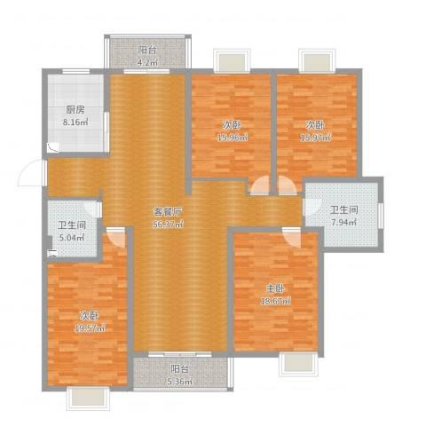 贵都之星4室2厅2卫1厨197.00㎡户型图