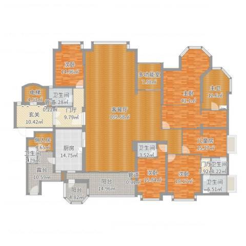 世纪城国际公馆香榭里5室2厅5卫1厨411.00㎡户型图