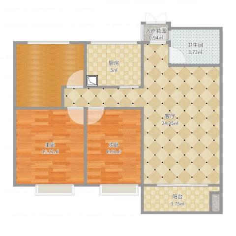 银亿东城2室1厅1卫1厨83.00㎡户型图