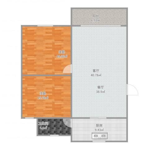 新升新苑2室1厅1卫1厨124.00㎡户型图