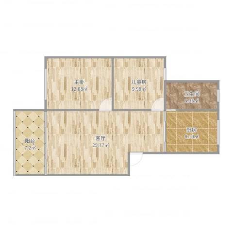 联丰新苑2室1厅1卫1厨87.00㎡户型图
