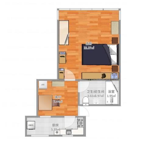 紫薇新村1室1厅1卫1厨50.00㎡户型图