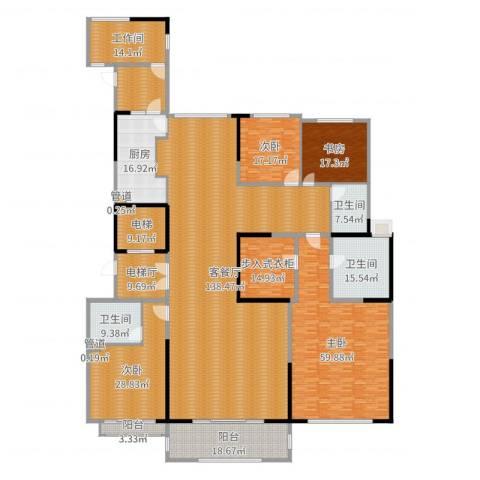 中海紫御豪庭4室2厅3卫1厨489.00㎡户型图
