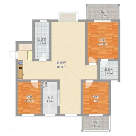 凤鸣华府二期颐和郡3室4厅2卫1厨117.00㎡户型图