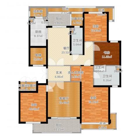 绿城之江1号4室3厅9卫6厨230.00㎡户型图