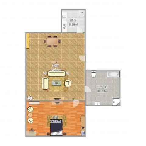 莘南新村1室1厅1卫1厨156.00㎡户型图