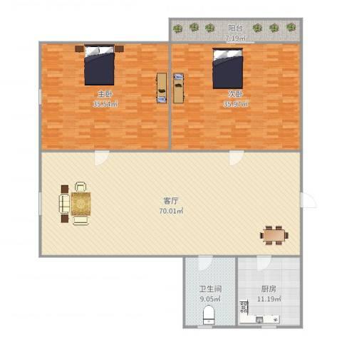 莘松六村2室1厅1卫1厨211.00㎡户型图