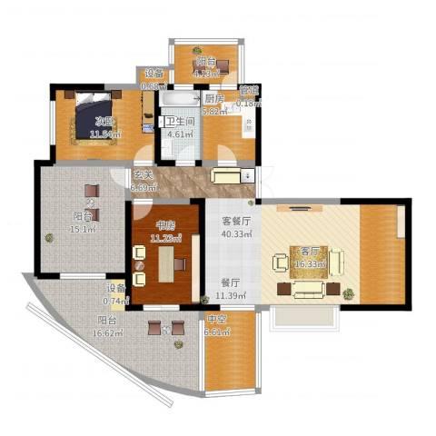 远大都市风景三期2室2厅1卫1厨167.00㎡户型图