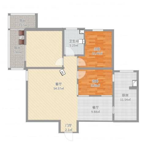 邮政小区2室1厅1卫1厨127.00㎡户型图