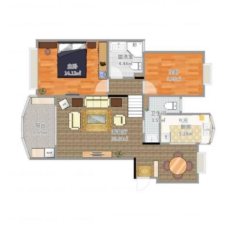 新明星花园一期2室4厅3卫1厨92.00㎡户型图