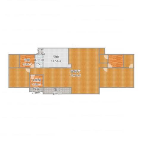 富康花园2室2厅1卫1厨168.71㎡户型图