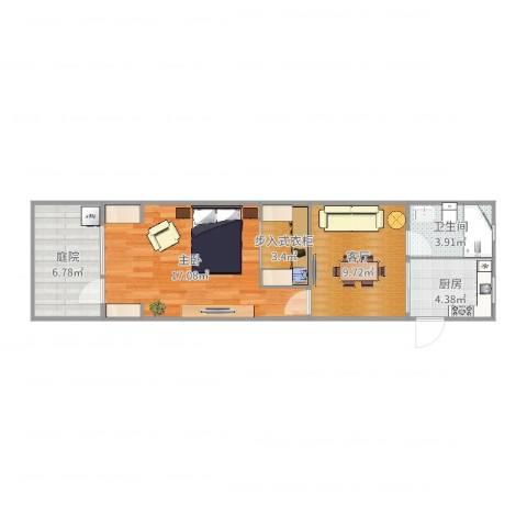 西环四村1室1厅1卫1厨57.00㎡户型图