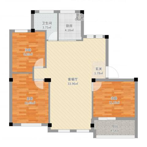 奥林803室2厅1卫1厨99.00㎡户型图