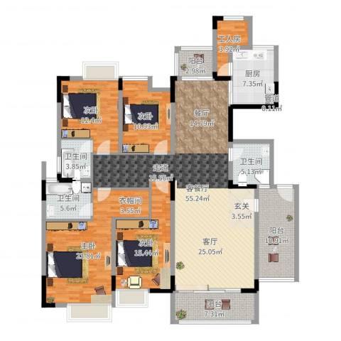 湖景壹号庄园别墅4室2厅3卫1厨164.98㎡户型图
