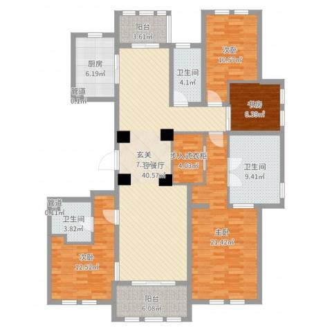 维科太子湾4室2厅3卫1厨161.00㎡户型图