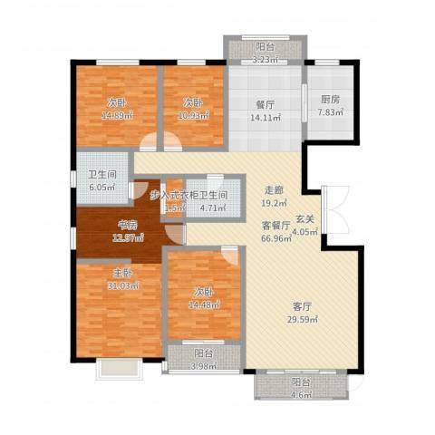 燕大星苑红树湾4室2厅2卫1厨213.00㎡户型图