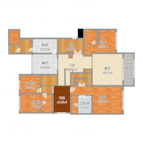 中海紫御豪庭5室2厅1卫1厨283.00㎡户型图