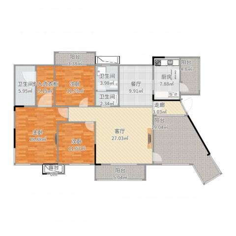 三江国际丽城阅世集3室2厅3卫1厨190.00㎡户型图