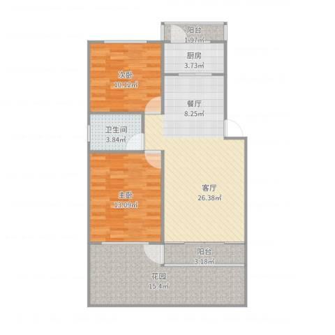 东力新村2室1厅1卫1厨97.00㎡户型图