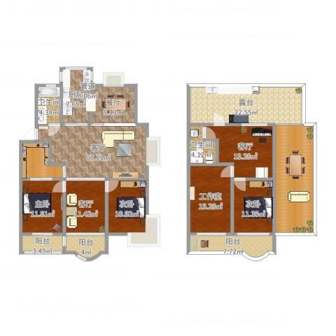 太湖花园三期3室4厅2卫1厨243.00㎡户型图