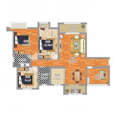 香颂小镇4室1厅2卫1厨127.00㎡户型图