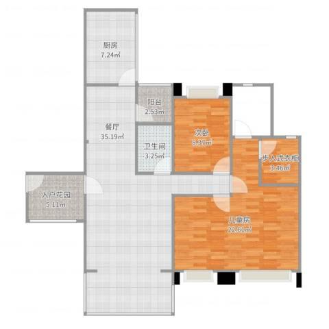 英郦庄园・曼城2室2厅1卫1厨118.00㎡户型图