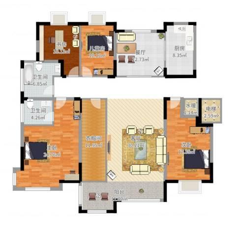 康和西岸4室1厅2卫1厨138.00㎡户型图