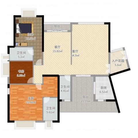 皇马郦宫3室1厅3卫1厨193.00㎡户型图