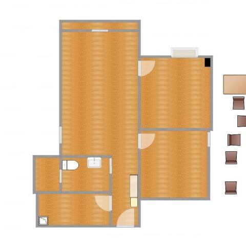 富力天朗明居3室1厅1卫1厨85.00㎡户型图