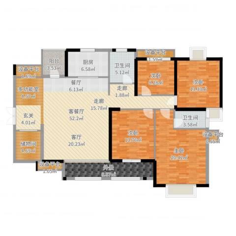 华强城・卡塞雷斯4室2厅2卫1厨182.00㎡户型图