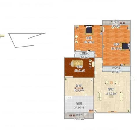 舜华园3室4厅1卫1厨515.00㎡户型图