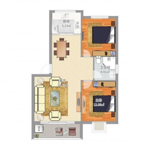 盛世郦都1室1厅1卫1厨89.00㎡户型图