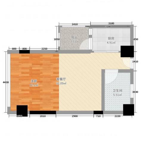 一米阳光・快乐家园2厅1卫1厨58.00㎡户型图