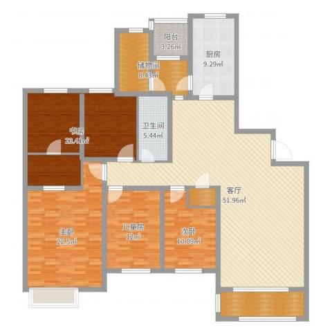 仁恒湖滨城3室1厅1卫1厨192.00㎡户型图