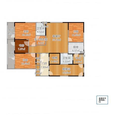 金基尚书里4室2厅2卫1厨187.00㎡户型图