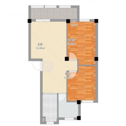 奥林802室2厅1卫1厨83.00㎡户型图