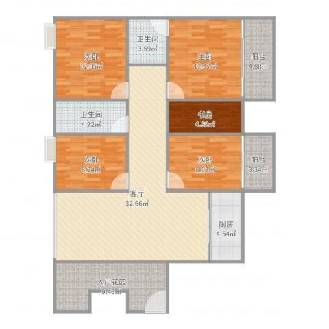 穆天子山庄3025室1厅2卫1厨137.00㎡户型图