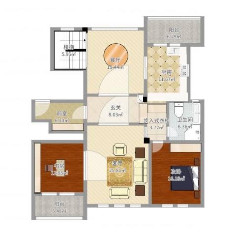维科太子湾2室2厅1卫1厨161.00㎡户型图