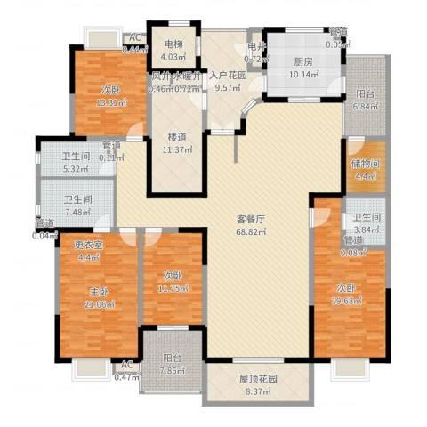九锦台4室2厅3卫1厨271.00㎡户型图