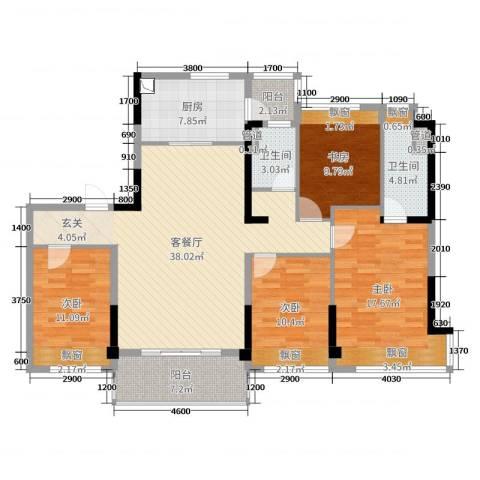 碧桂园・翡翠山4室2厅2卫1厨112.47㎡户型图