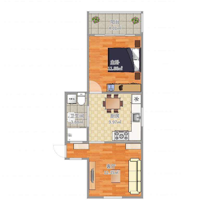 上虹新村一房两厅