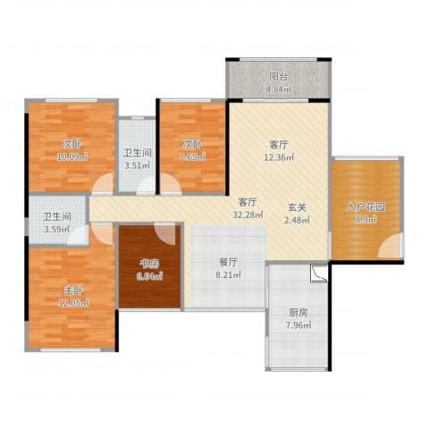 凯南莱弗城4室1厅2卫1厨122.00㎡户型图