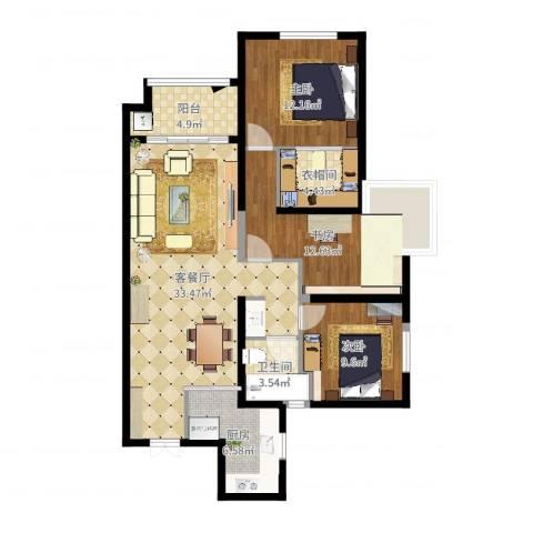 旺座城—海德堡PARK3室2厅1卫1厨109.00㎡户型图