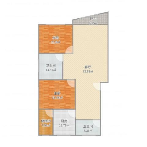 生产街139号2室1厅2卫1厨209.00㎡户型图