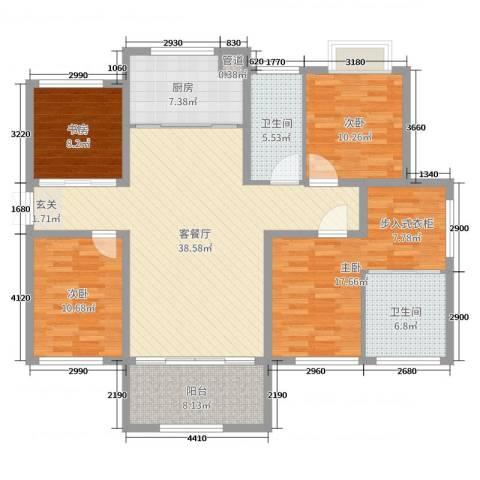 香榭一品4室2厅2卫1厨142.00㎡户型图