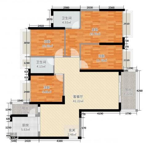 海伦湾4室2厅2卫1厨152.00㎡户型图